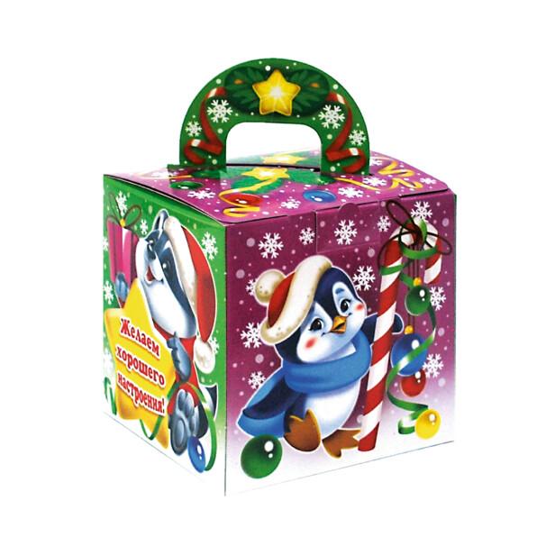 Детский сладкий новогодний подарок «Кубик». Фото 2