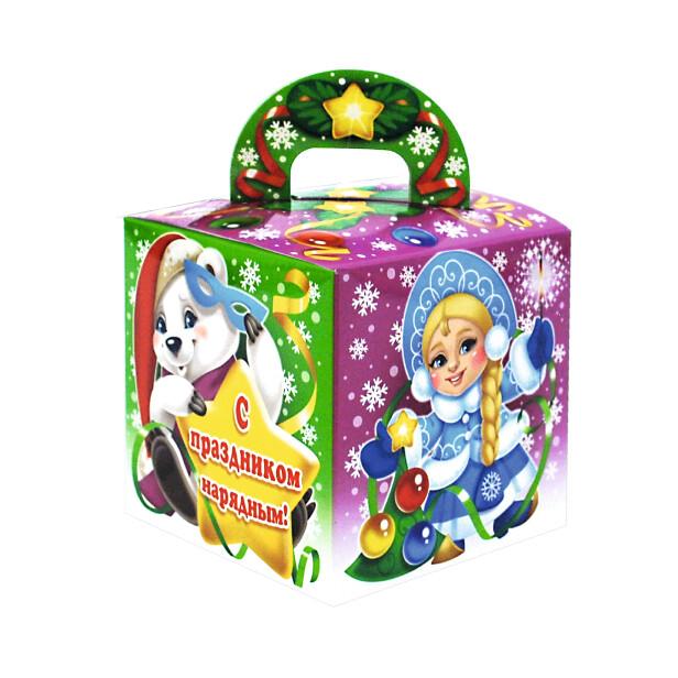 Детский сладкий новогодний подарок «Кубик». Фото 1