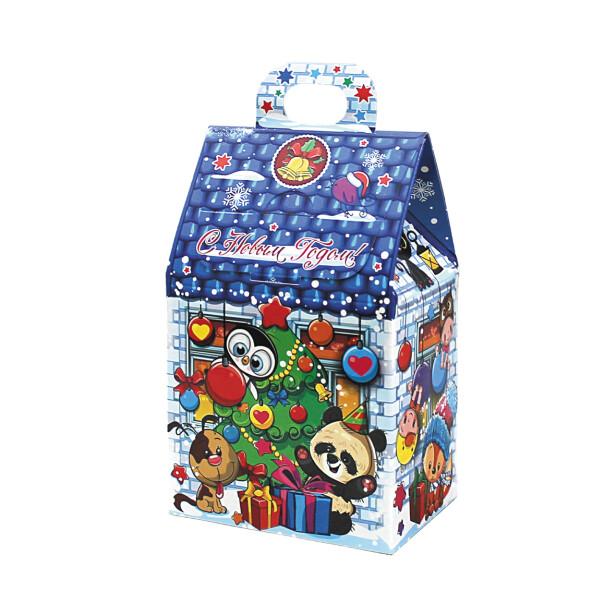Детский сладкий новогодний подарок «Домик». Фото 2