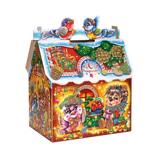 Детский сладкий новогодний подарок «Кормушка». Фото 2