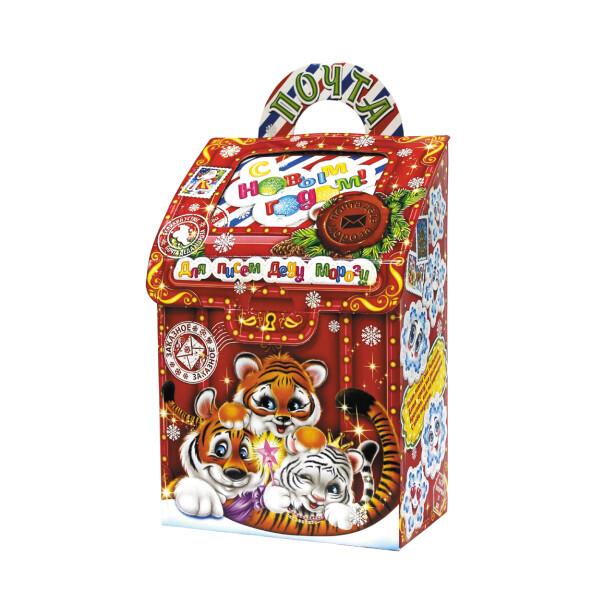 Детский сладкий новогодний подарок «Почта ДМ». Фото 1