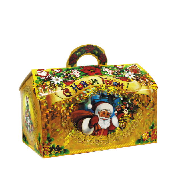 Детский сладкий новогодний подарок «Сундучок». Фото 2