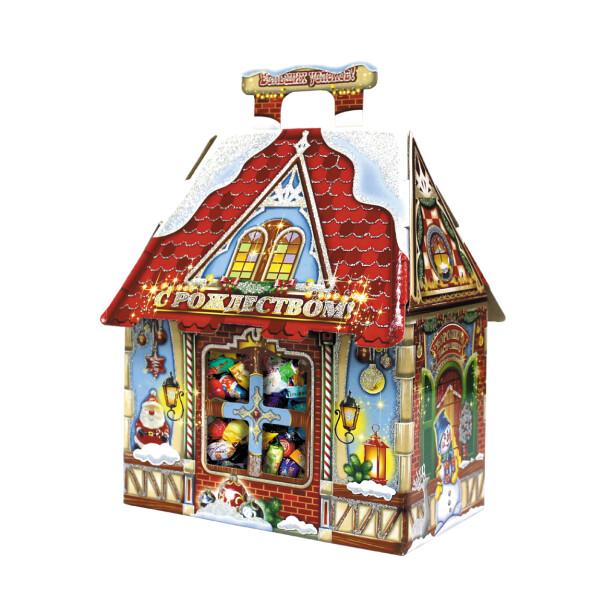 Детский сладкий новогодний подарок «Дом». Фото 2