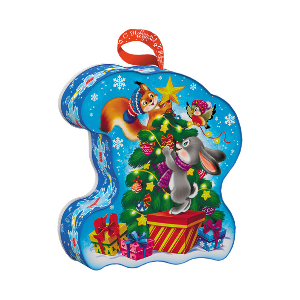 Детский сладкий новогодний подарок «Тигрёнок». Фото 2