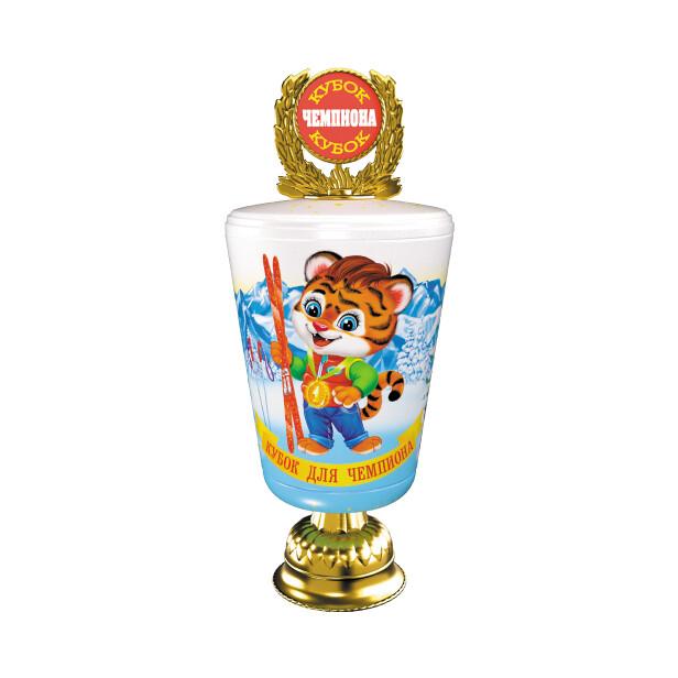 Детский сладкий новогодний подарок «Кубок». Фото 1