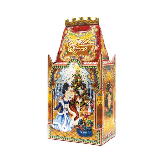 Детский сладкий новогодний подарок «Замок». Фото 1