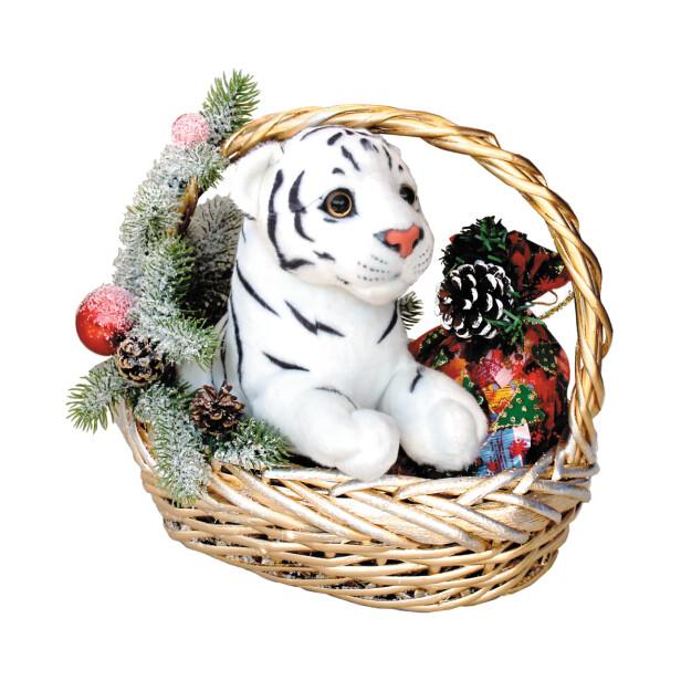 Детский сладкий новогодний подарок «Корзина №1»